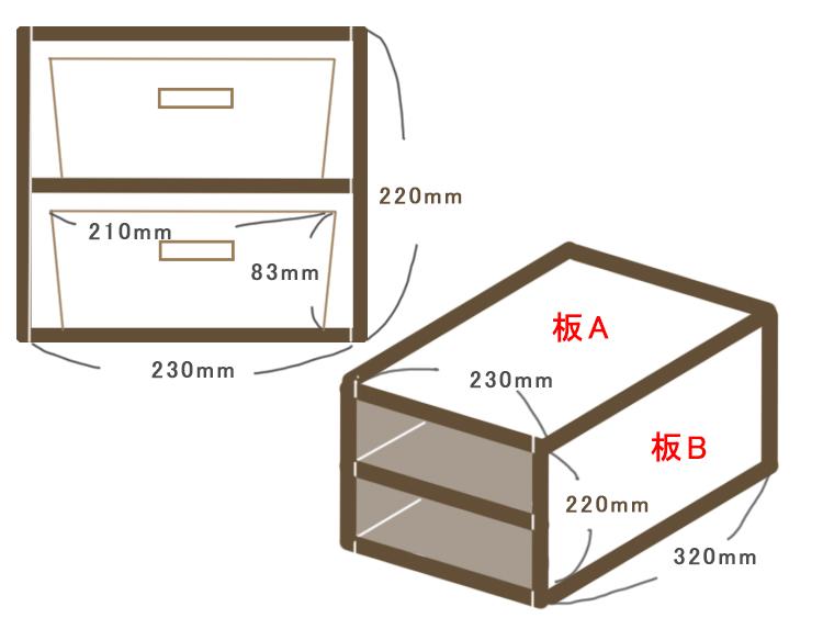 木箱の設計図
