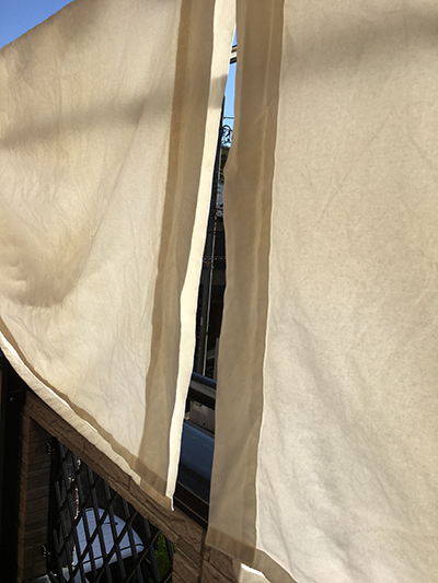 カーテンのカビが落ちた