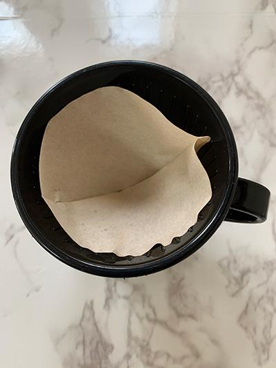 コーヒーフィルターを折る意味