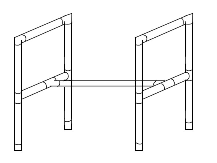 塩ビパイプ棚設計図