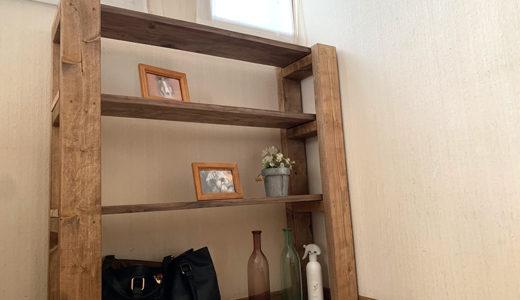 1日で簡単に完成!DIYで作る木製の棚