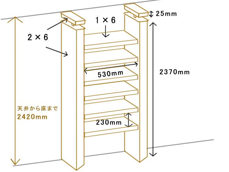 壁面収納設計図