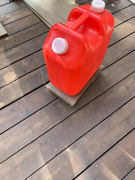 灯油タンク収納DIY