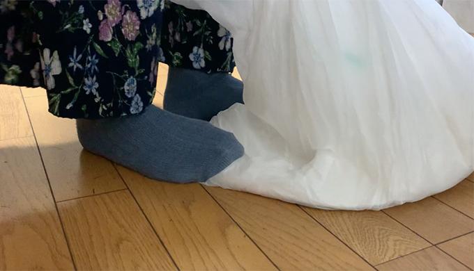 粉漆喰は漬物袋で踏んで練るのが良い