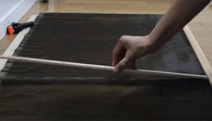 木枠の網戸手作り