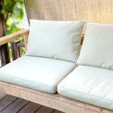 ikeaの屋外クッショにぴったりサイズのガーデンソファーをDIY