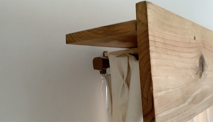 壁に穴を開けないカーテンボックス